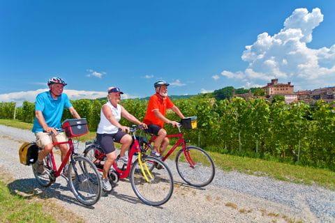 Radfahrer auf der Piemont Sternfahrt