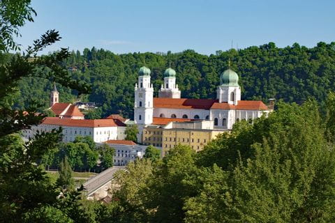 View over the St. Stephan Dome in Passau