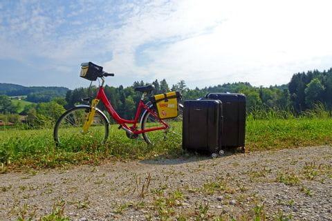 Eurobike Rad und Koffer