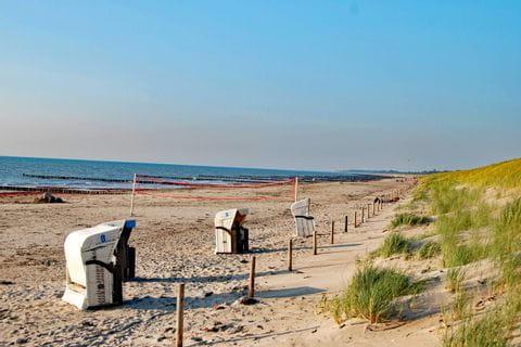 Beach chairs at a beach of the Baltic Sea