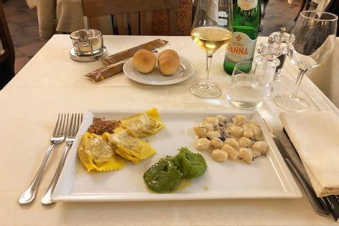Köstliche Pasta Trilogie in Italien