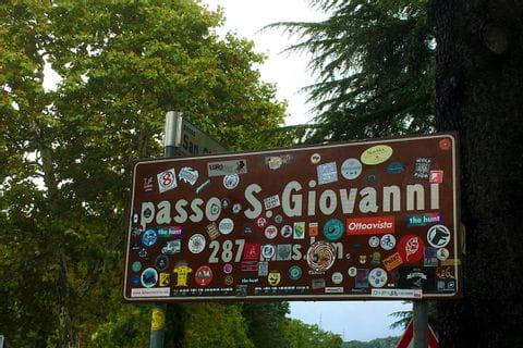 Ortsschild von Passo San Giovanni