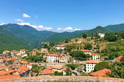 Radetappe von Millesimo nach Albenga Impressionen von der Hügellandschaft