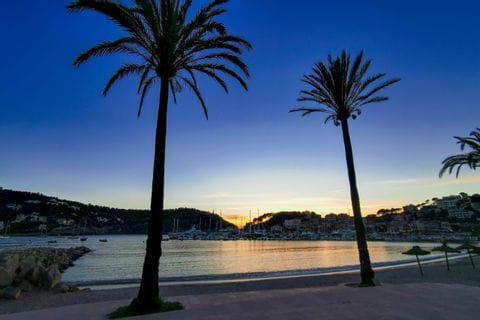 Sonnenuntergang am Strand Mallorca