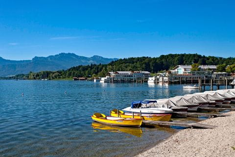 Boats at Lake Chiemsee