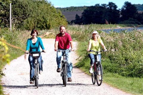 Radgruppe unterwegs auf der Tour Spuren der Wikinger