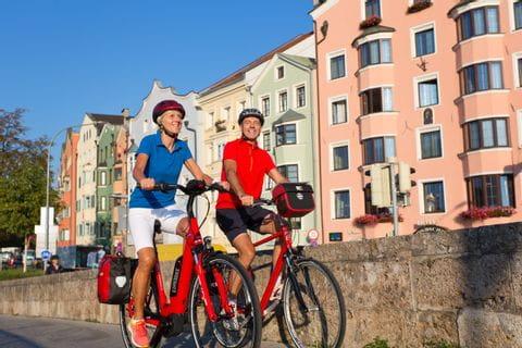 Cyclists in Innsbruck