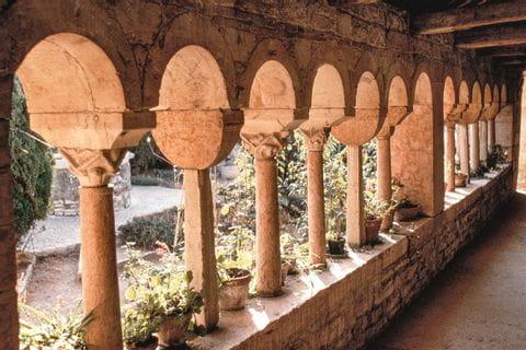 Ein Säulengang in Verona