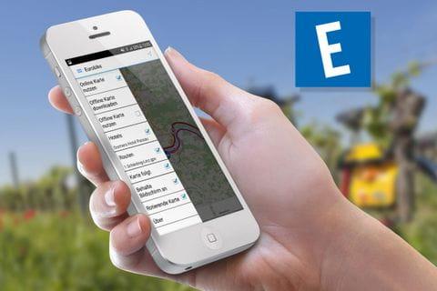 Handy mit der Eurobike-App