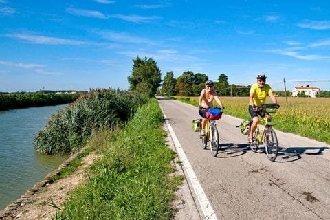 Cyclists on cycle path