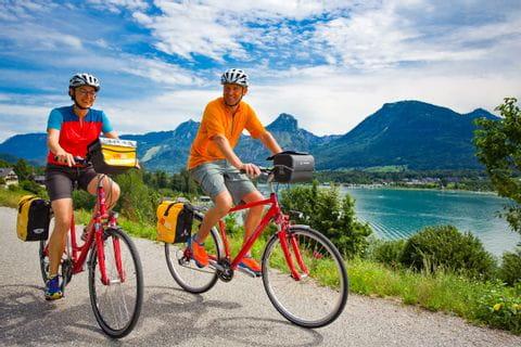Wolfgangsee Radfahrer