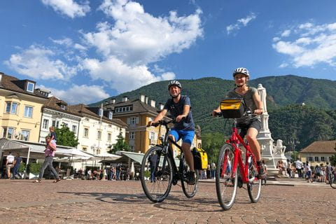 Cyclists in Bolzano
