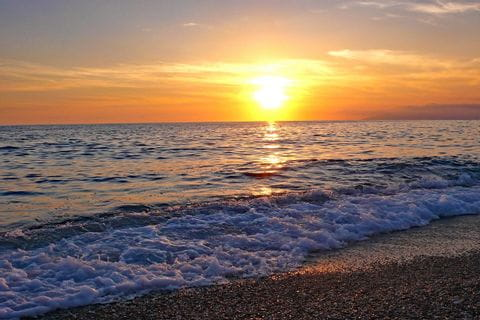 Sunset at the sea