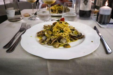 Spaghetti Vongole in Castiglioncello