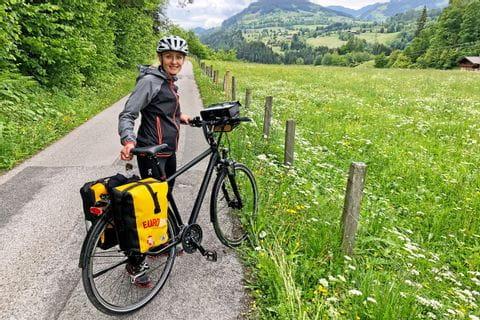 Verena with her bike