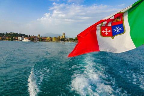 Gardasee Schifffahrt Flagge