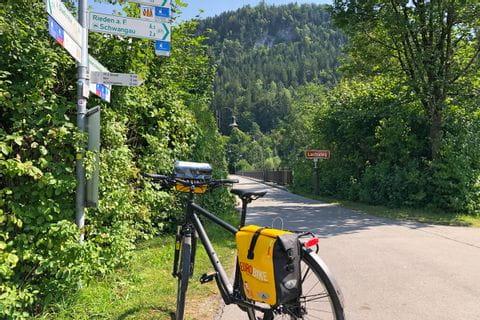 Radweg am Lechsteg