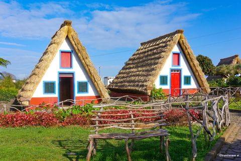 Bunte Häuser auf Madeira