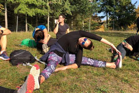 Marcella beim Yoga