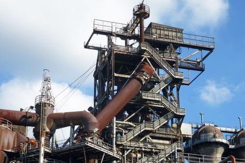Industriekultur entlang der Strecke