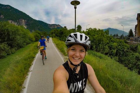Selina Foto beim Radfahren