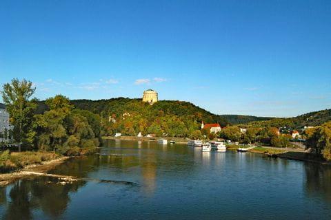 View over Kelheim at the river Danube
