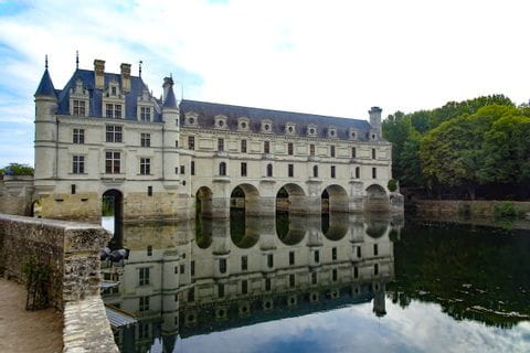 Castle Chenonceaux in the region of the Loire