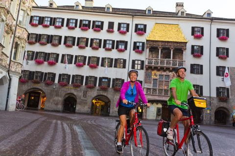 Cycling through Innsbruck with Eurobike