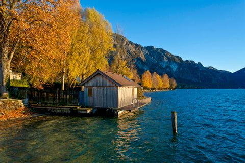 Attersee im Herbst