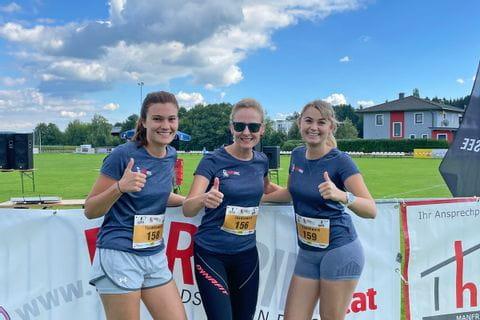 Die drei Läuferinnen des Eurofun-Teams
