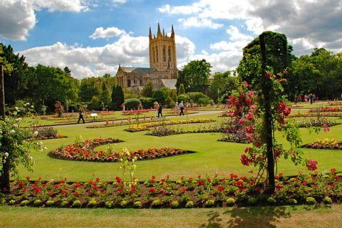 Garten der Bury St. Edmunds Kirche