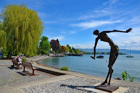 Statue at the promenade along Lake Constance