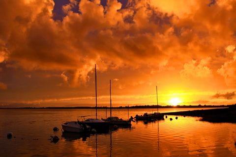 Sunset at Gulf of Morbihan