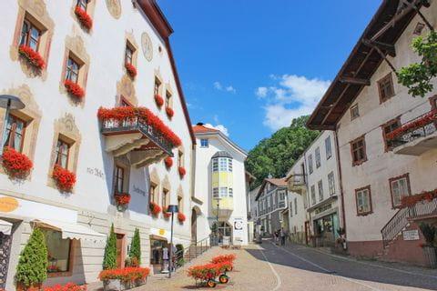Zentrum vom Mals im Vinschgau