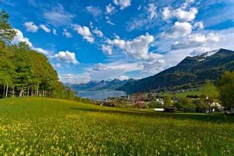 View to St. Gilgen at Lake Wolfgang
