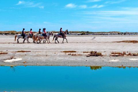 Reiter an der Küste