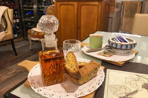 Cognac and Cantuccini