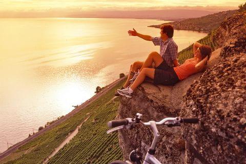 Pause mit toller Aussicht auf den Genfer See