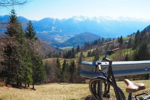Triglav Nationalpark Ausblick auf das Bergpanorama
