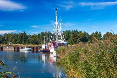 Schiffsanlegestelle auf Usedom