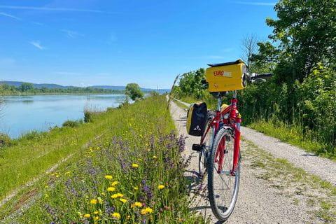 Bike on the Inn cycle path