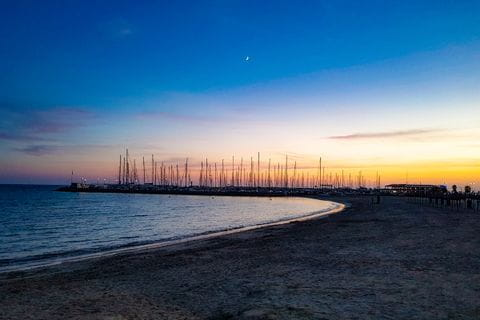 Dämmerung am Hafen der Playa de Palma