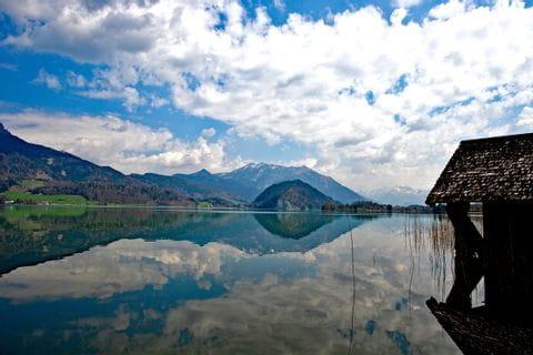 Crystall clear Lake Wolfgang