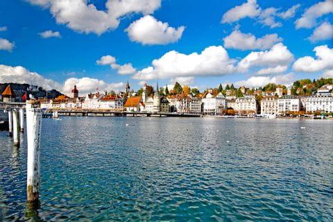 Beautiful lake in Luzern