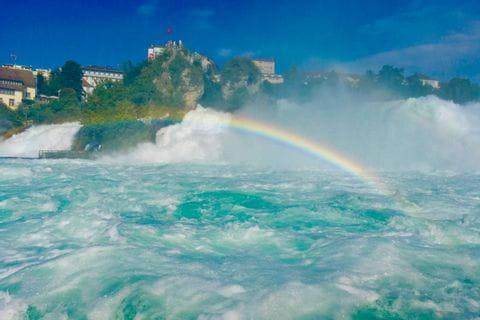 Regenbogen am Rheinfall