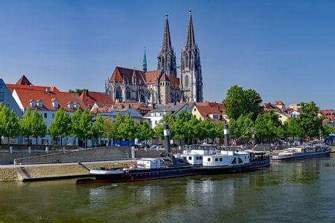 Ship on the Danube in Regensburg