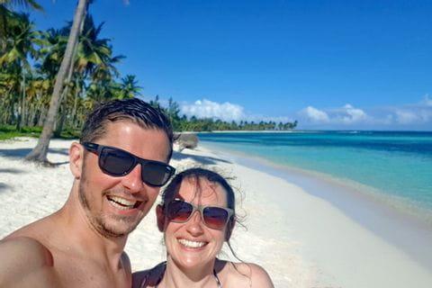 Melanie und Martin am Strand