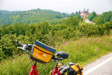 Impressionen von der Radlandschaft entlang der Turin nach Sanremo Reise