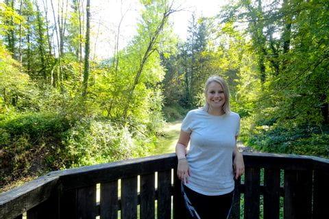 Christine in der Natur