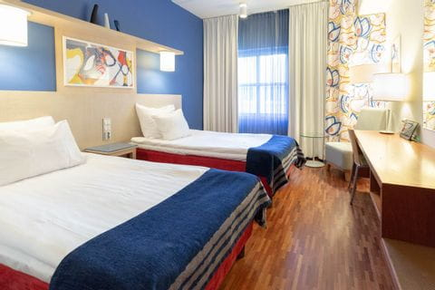 Standard double room in the hotel Scandic Atrium